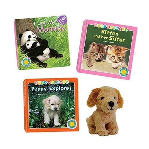 - Puppy Explores, Kitten and Her Sister, I Love My Mommy Board Books and Puppy Stuffed Animal Toy (Smithsonian Institution Baby Animals / I Love My Series)