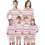 Christmas Family Matching Pajamas Set Santa's Deer Sleepwear Mum Size S