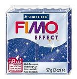 Staedtler - Fimo Effect - Pain Pâte à Modeler 57 g Effet Pailleté Bleu