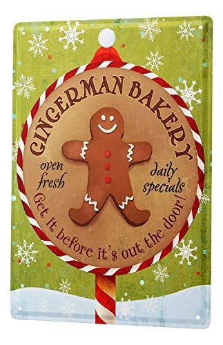DYTrade Tin Metal Sign Food Restaurant Decoration Bakery Gingerbread Man Metal Plate ()