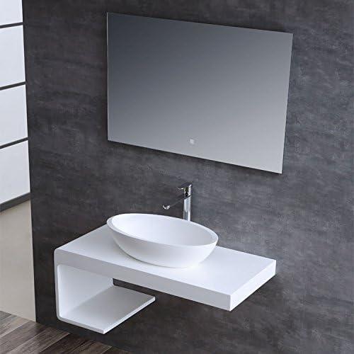 STONEART Waschbecken LC153 wei/ß//60x35cm//matt
