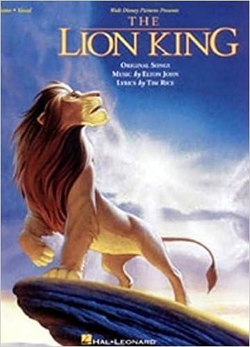 walt disney presents the lion king original songs piano vocal