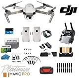 #9: DJI Mavic Pro Platinum - Drone - Quadcopter - 4K Professional Camera Gimbal - Bundle - Kit - with 2 Batteries - with Must Have Accessories