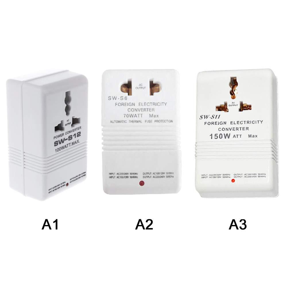 GoodFaith Transformador de corriente de 110 V a 220 V y 220 V a 110 V para viaje