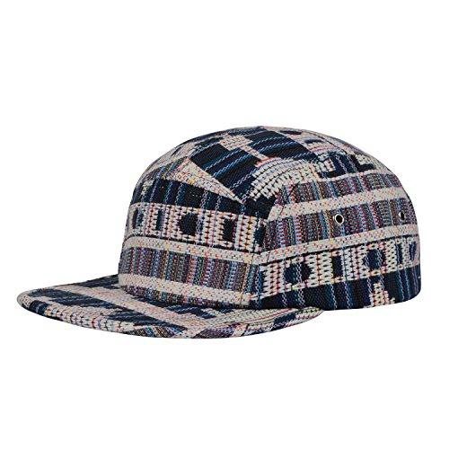 GP Accessories Pattern Multi Color Stripe 5 Panel Hat Large Grey Blue