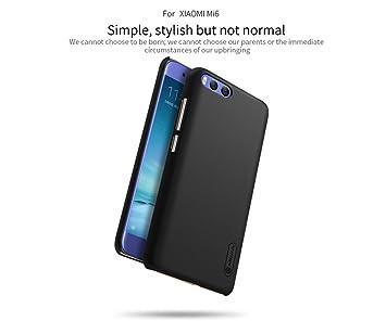 Nillkin Frosted Shield - Carcasa trasera protectora y antideslizante + film de pantalla para Xiaomi Mi6 - Negro