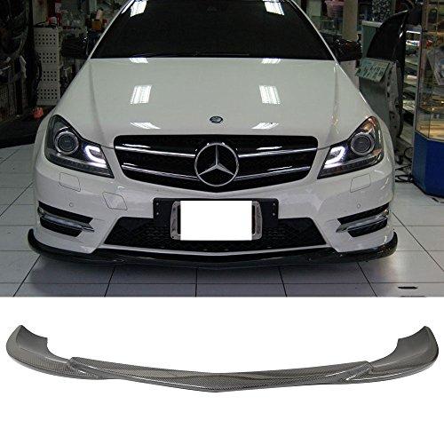 Front Bumper Lip Fits 2012-2014 W204 Sedans   Godhand Style Carbon Fiber (CF) Front Lip Spoiler Splitter by IKON MOTORSPORTS   2013