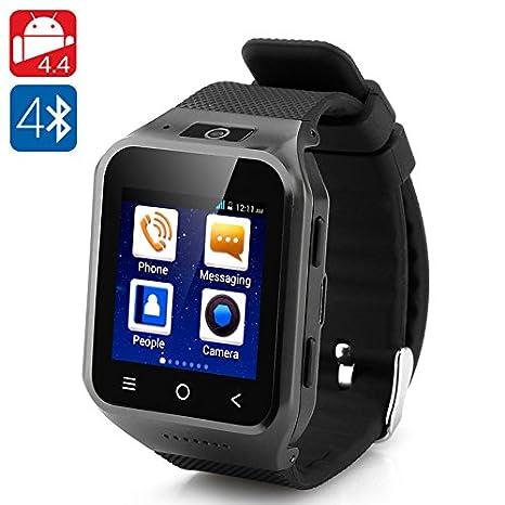 Reloj Teléfono ZGPAX S8 Android 4.4, cámara 5 mp (Negro) | Movil: Amazon.es: Electrónica