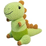 Vietsbay Black-White Stegosaurus Dinosaur Stuffed Animals Crochet Doll VAC_00