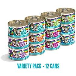Weruva B.F.F. Omg - Best Feline Friend Oh My Gravy!, Variety Pack, Rainbow Road, Wet Cat Food By, 2.8Oz Cans (Pack Of 12)