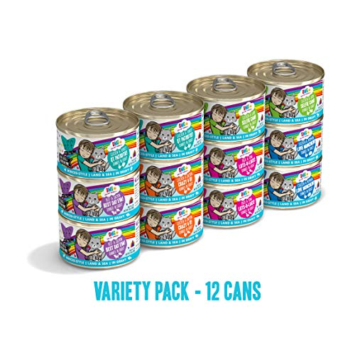 Weruva B.F.F. Omg - Best Feline Friend Oh My Gravy!, Variety Pack, Rainbow Road, Wet Cat Food By, 2.8Oz Cans (Pack Of 12)