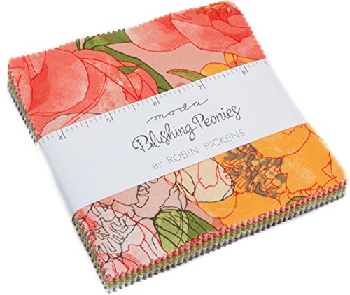 Blushing Peonies Charm Pack By Robin Pickens; 42 - 5