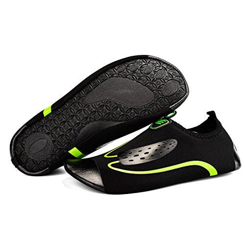TZTONE Unisex Schwimmen Schuhe Barfuß Quick-Dry Wasserschuhe TZT-SS999 Schwarz