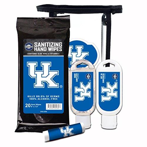 Kentucky Decal Set - Worthy Promotional NCAA Kentucky Wildcats 4-Piece Premium Gift Set with SPF 15 Lip Balm, Sanitizer, Wipes, Sunscreen