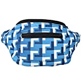 Modern Mosaic Fanny Pack, Stylish Arty Party Boho Chic Handmade w/Hidden Pocket (Huge Els)