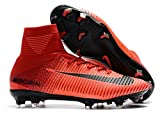 Men's High Ankle Soccer Cleats Nike Mercurial Superfly V FG Red (8.5 US)