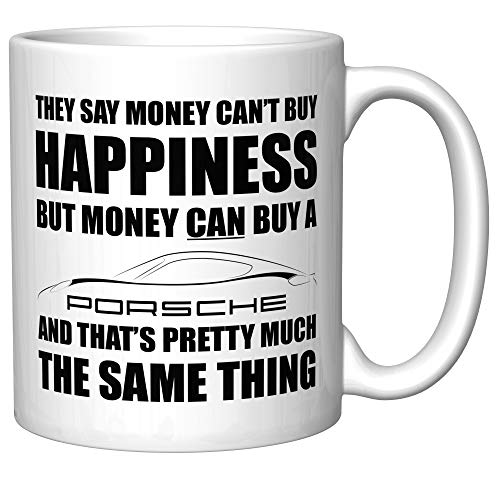 Money Can't Buy Happiness (Porsche Cayman 718) Coffee Mug