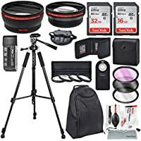 58MM HD 2.2x Telephoto and 0.43X Wide Angle + Xpix Photo Accessories w/ Essential Photo and Travel Bag for CANON REBEL (T6s T6i T5i T4i T3i T3 T2i T1i XT ), EOS (700D 650D 600D 1100D 550D 500D 100D)