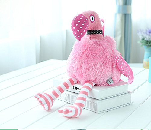 Cute Pink Flamingo Plush Backpack for Baby Girls by Mycutie