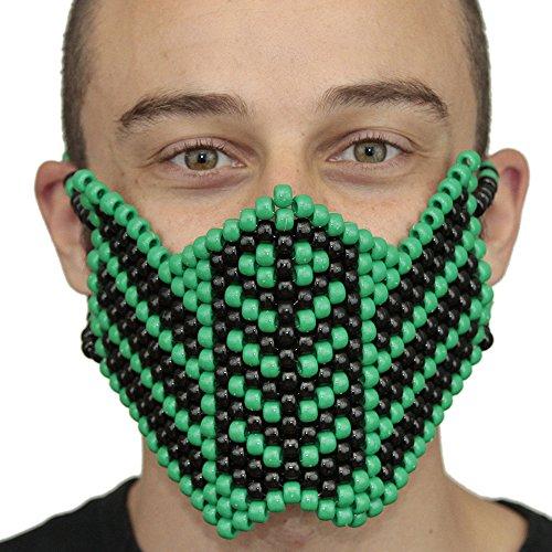 Kandi Gear - Reptile Mortal Kombat Kandi Mask Full Rave (Reptile Costumes Mortal Kombat)
