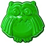 Pavoni FRT177 Platinum Silicone Gufo-Owl Mini Cake Mould, Green