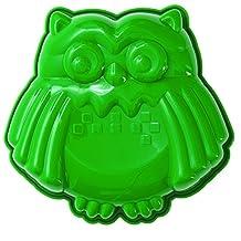 Pavoni FRT177 Platinum Silicone Gufo-Owl Mini Cake Mould, Green