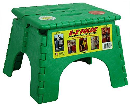 (B&R Plastics 101-6G-GREEN E-Z Foldz Step Stool - 9