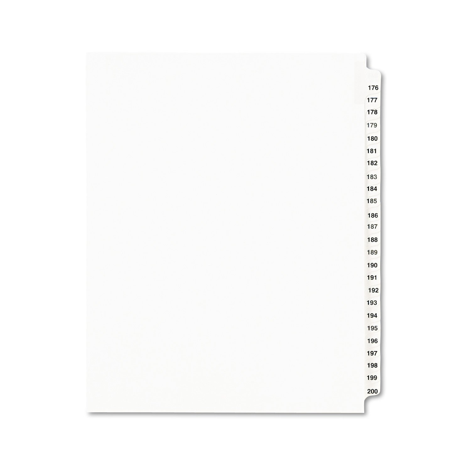 Avery Legal Dividers, Standard Collated Sets, 176-200 Tab Set (01337)