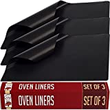 Appliances : Large Non-Stick Oven Liners - Set of 3 - Master Chef Quality Kitchen Accessories For Home Cooks - Keeps Ovens Clean - Heavy Duty, Easy To Use, Versatile