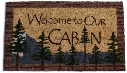 DII Welcome to Our Cabin Doormat - Welcome Cabin