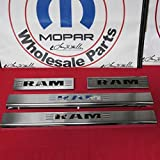 Mopar Dodge Ram Front & Rear Stainless Steel Door Entry sill Guard kit New OEM