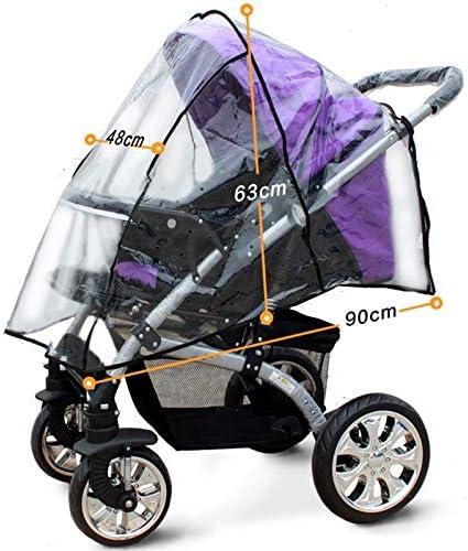Rain Stroller Accessories Stroller Universal Coverage Errors Cradle Stroller Bassinet Transparent rain Cover