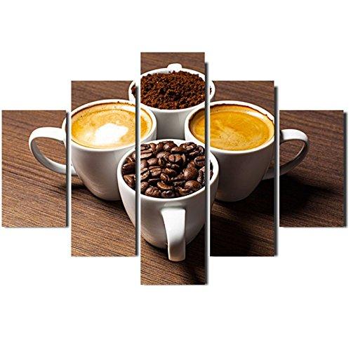 Painel Mosaico 5 Partes Café Expresso