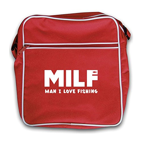 I Milf Love Flight red Fishing Bag Red Man Retro 7xSnR6x
