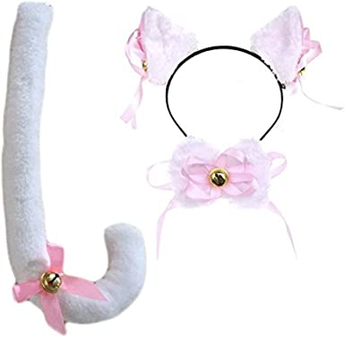 Cartoon Cat Fox Ears Headband with Bell Bow for Cosplay Party Costume Striking