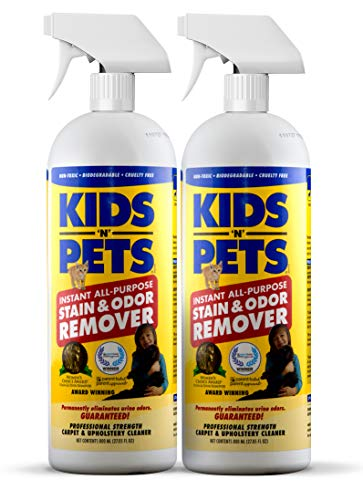 KIDS 'N' PETS - Instant All-Purpose Stain & Odor Remover – 27.05 oz. (800 ml) - Pack of 2 | Proprietary Formula Permanently Eliminates Tough Stains & Odors – Even Urine Odors | Non-Toxic & Child Safe from KIDS 'N' PETS