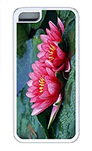Cases For iPone 5C - Summer Unique Cool Personalized Design Beautiful Water Lilies