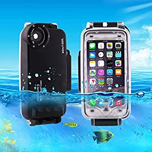 L.L.BEAR HAWEEL for iPhone 6 & 6s 40m Waterproof Diving Housing Photo Video Taking Underwater Cover Case ( Color : Black )