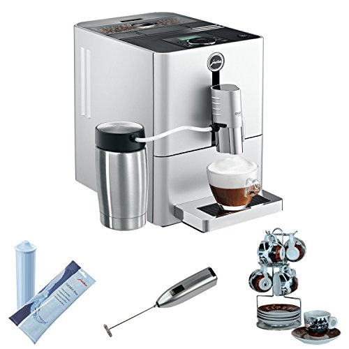 Jura Ena Micro 9 One Touch Automatic Coffee Center Bundle