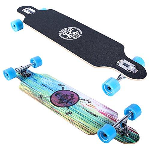 Womens Skateboard Deck - Karnage Drop Through Longboard (Blue)