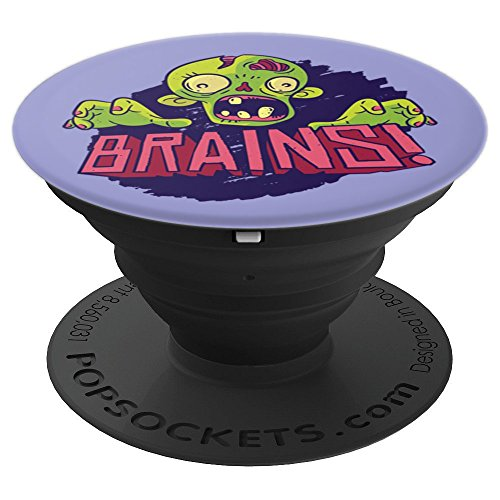 (ZOMBIE BRAINS Meme Halloween Scary Funny Boo Zombies - PopSockets Grip and Stand for Phones and)