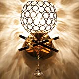 Crystal Wall Light Single Style LED Wall Lamp Double Head Decorative Modern Room for Corridor Bedside Room (Gold)