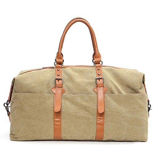 LJ&L Bolsa de equipaje de lona de gran capacidad al aire libre bolsa de equipaje de mano, bolsa de viaje de larga distancia, bolsa de hombro práctica portátil,A,36-55L C