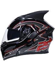 Adulto Doble lense Motocicleta Casco de protección Anti Niebla Flip up Motocicleta Cascos para Motocross Racing Moto Caps