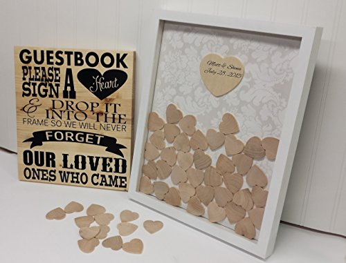 heart wedding guest book drop top frame guestbook sign Wedding Guest Book Uae heart wedding guest book drop top frame guestbook sign personalized guest book idea drop top frame wedding guest book uk