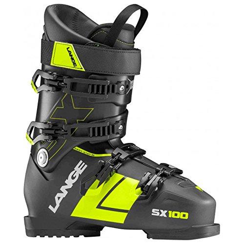 (Lange SX 100 Ski Boots Black/Yellow 28.5)