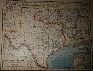 Amazoncom Map Of South Central United States Texas Oklahoma - Map of south central us