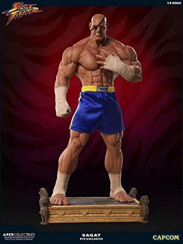 STREET FIGHTER/ストリートファイター/サガット/SAGAT/ STREET FIGHTER II SAGAT 1/3 EXCLUSIVE MIXED MEDIA PCS COLLECTIBLES NEW.PRE-ORDER