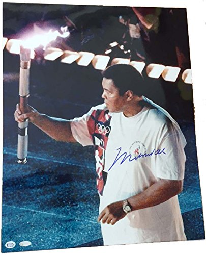 Mounted Memories Muhammad Ali Olympic Torch Autographed 16 x 20 Photograph (Unframed)