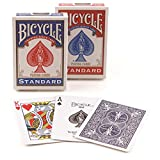 Bicycle Poker Size Standard Index Playing Cards (6-Pack) [Colors May Vary: Red, Blue or Black]